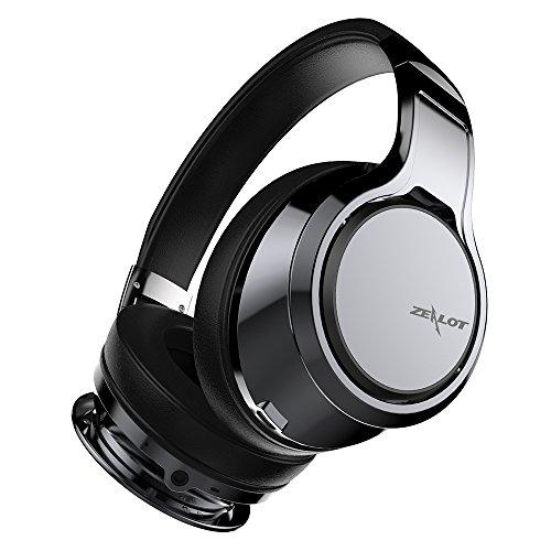 ZEALOT B22 Bluetooth ヘッドホン高音質 密閉型 10時間再生 折り畳み式 ケーブル着脱式 無線通話 iPhone、Android、有線無線対応 (スチールグレー )