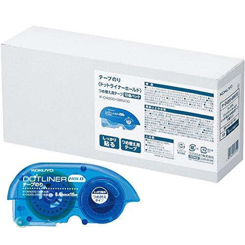 テープのり のり ドットライナー ホールド 詰め替え 10個 タ-D4200-08NX10