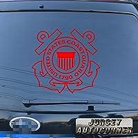 3s MOTORLINE United States Coast Guard USCGデカールステッカー車ビニールPickサイズカラーDie Cut No背景 22'' (55.9cm) ブラック 20180327s25