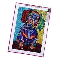 sharprepublic ダイヤモンドクロスステッチ 5Dダイヤモンド絵画キット 犬のパターン 家の装飾品