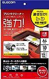 ELECOM プリンタークリーニングシート A4 10枚入り CK-PRA410
