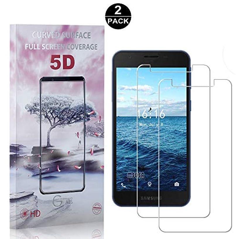 強います法律によりソフィー【2枚セット】 Galaxy A2 Core 硬度9H ガラスフィルム CUNUS Samsung Galaxy A2 Core 専用設計 強化ガラスフィルム 高透明度で 99%透過率 気泡防止 耐衝撃 超薄 液晶保護フィルム