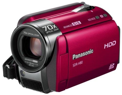 Panasonic SD/HDDビデオカメラ レッド SDR-H80-R
