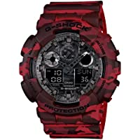 Casio G-Shock GA-100CM-4A XL Camouflage Red Analog Digital Men's Watch