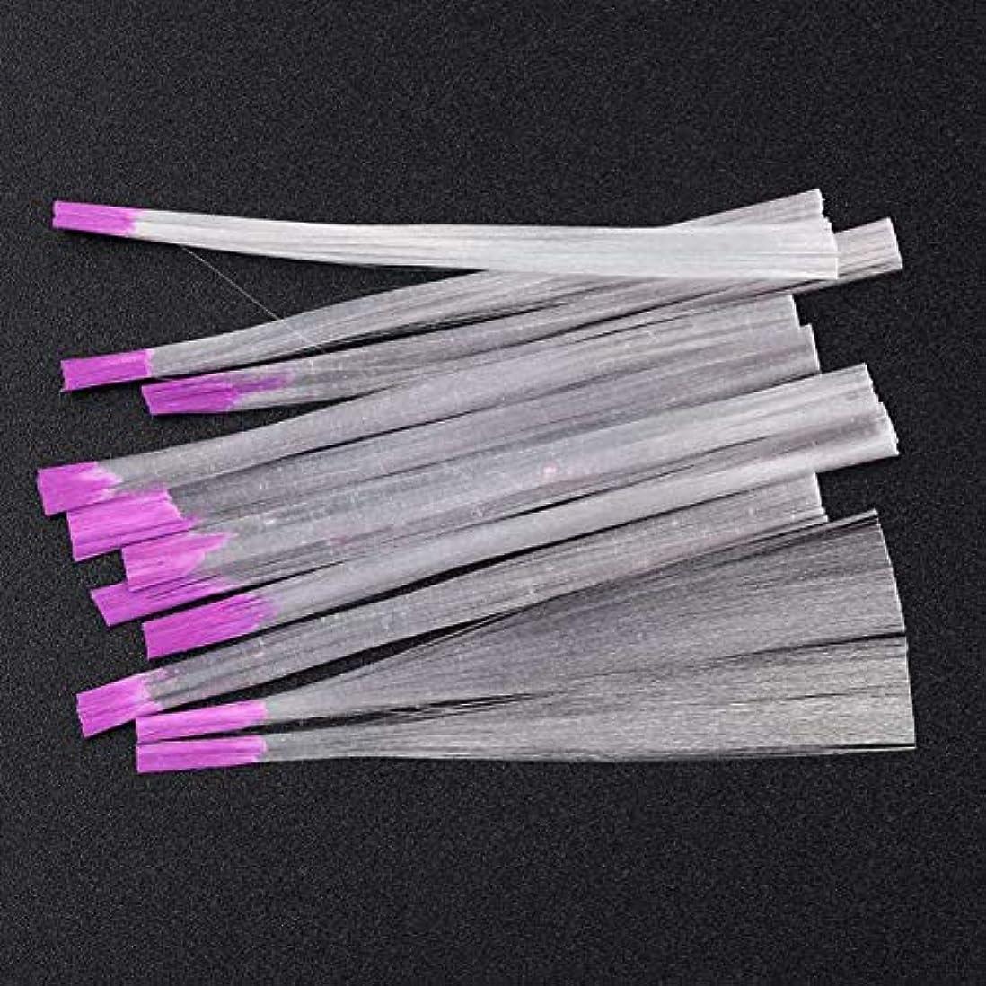 抵抗無許可ライラックYoshilimen 釘のための最新の透明な釘ファイバーグラス(None Picture Color)