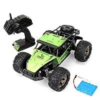 遙控車4Wd 2.4Ghz高速賽車攀爬遙控電動越野車卡車1:12漂移禮品男孩兒童玩具兒童生日, green