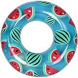 FOCHEA 浮き輪 うきわ 水泳用 ポンプ不要 コンパクト スイミング 海水浴 プール 海フロート可愛い スイカ浮き輪 大人用 子供用 収納ケース付き オシャレ携帯便利 (直径80cm)