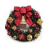 メリー クリスマス リース 玄関 キット 材料 手作り 飾り 30㎝ red gold ひいらぎ 松ぼっくり