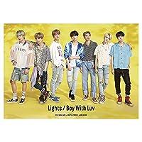 Saitrewed-BTS KPOP 韓流 BTSグッズ BTS 写真 Lights/Boy with Luv 記念 限定 ポスター コレクターズエディション 応援グッズ for a.r.m.y 29.7*42cm(H03)