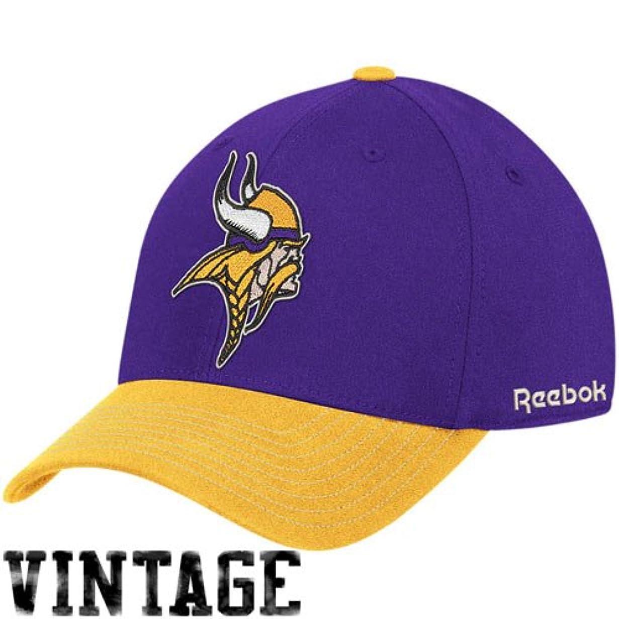 タブレット詐欺メダルリーボックMinnesota Vikings purple-goldクラシックフレックスフィットハット( L / XL )