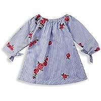 Asisol Baby Girls Floral Off Shoulder Princess Dress