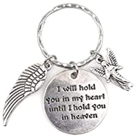 I Will Hold You In My Heart Until I Hold You In HeavenエンジェルウィングStanding Angelキーチェーン115b