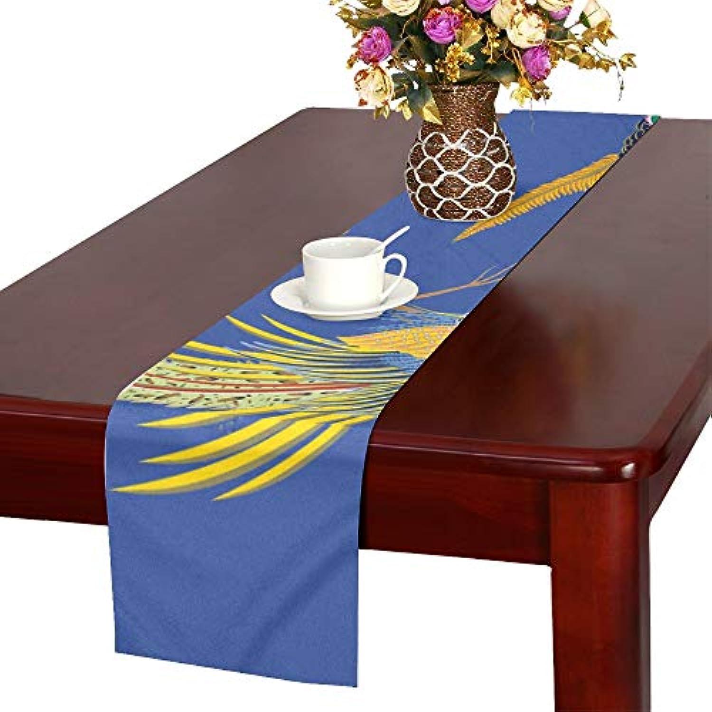 LKCDNG テーブルランナー アニメーション 和風の動物 クロス 食卓カバー 麻綿製 欧米 おしゃれ 16 Inch X 72 Inch (40cm X 182cm) キッチン ダイニング ホーム デコレーション モダン リビング 洗える