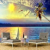 Lixiaoer 写真の壁の壁画美しい夕日の景色防水壁紙3Dの壁紙壁-200X140Cm