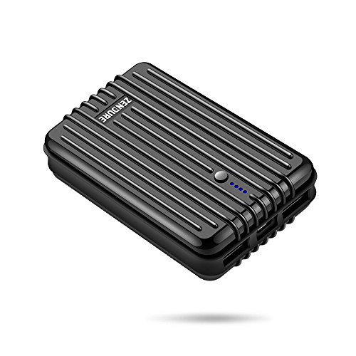 Zendure A3 10000mAh モバイルバッテリー 大容量 耐衝撃 24ヶ月保証 軽量 薄型 2.4A高速充電 残量表示 スマホ 急速充電器 2ポート 同時充電 充電器 iPhone / iPad / Galaxy / Xperia / Android など 対応 (ブラック)
