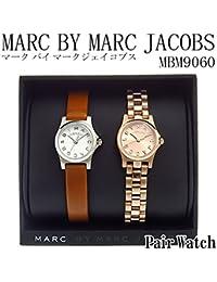 マークバイ マークジェイコブス ペアウォッチ 腕時計 MBM9060 ホワイト/ピンクゴールド [並行輸入品]