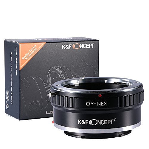 K&F Concept® マウントアダプター C/Y-NEX コンタックスヤシカC/Yマウントレンズ- SONY (α NEX) Eマウントカメラ装着用レンズアダプター eマウントアダプター 高精度 高品質