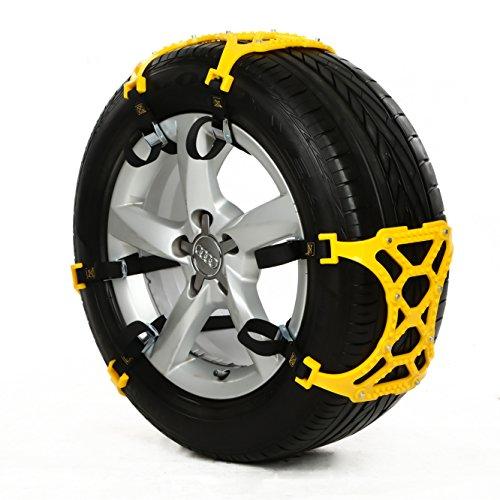 Smartdoo(スマートドゥ) 非金属 タイヤ チェーン スノーチェーン ジャッキアップ不要 スノーヘルパー プラスチック 雪道 峠道 汎用 タイヤ幅165mm~265mmまでのタイヤに対応 取り付け簡単