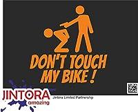 JINTORA ステッカー/カーステッカー - Don't touch my bike! - 私の自転車に触れないでください! - 99x99 mm - JDM/Die cut - 車/ウィンドウ/ラップトップ/ウィンドウ - オレンジ