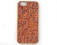 Egyptian Hieroglphics iPhone 6/6s 6/6s Plus 5/5s 5c 4/4s Laser Engraved Genuine Wood Case (6/6s - Cherry) [並行輸入品]