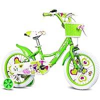 YANFEI 子ども用自転車 グリーンフェアリーバイクキッズバイク3-8歳の女の子が安定して安全に乗る 子供用ギフト