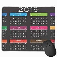 マウスパッド 滑り止め マウス用パット ゲーミング 耐久性 約(25cm X 30cm) マウス パッド 2019カレンダー