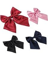 JewelryWe 大切な人や,彼氏・彼女へのプレゼント:制服リボン,カラー:レッド;ブラック;ブルー;ピンク【無地タイプ】