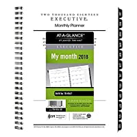 AT-A-GLANCE Executive Monthly Planner Refill 6 5/8 x 8 3/4 2018 [並行輸入品]