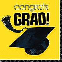 Congrats Grad Yellow Graduation Lunch Napkins おめでとうグラドイエロー卒業ランチナプキン♪ハロウィン♪クリスマス♪