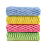 Towel Master クロス マイクロファイバー 4枚入 ぞうきん・クロス 吸水 速乾タオル、 2点購入でもう1点プレゼント(タオル 白)