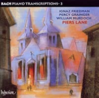 Bach, J.S.: Piano Transcriptions Vol.3 by Piers Lane (2003-06-10)