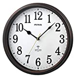 MAG(マグ) 掛け時計 電波 アナログ ネメシス 直径約31cm 連続秒針 ブラウン W-741BR-Z