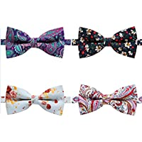 Fashion Elegant Adjustable Pre-tied Cotton Printed Floral bow ties for Men Boys