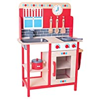 Bigjigs Toys木製Play Kitchen withシンク、Cooker追加のアクセサリ