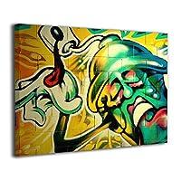 SkyDoor J Graffiti Cool Hip Hop Art Bad Ass インテリア 壁絵 アートフレーム モダン 壁掛け ポスタ アート 背景絵画 壁アート 枠なし 現代壁の絵 木製 壁掛け絵画 装飾画 かべ飾り 30*40