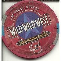 $ 5 Wild Wild Westラスベガスカジノチップ