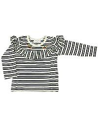 【子供服】 Will Mery (ウィルメリー) 先染めボーダーフリルTシャツ 80cm~130cm S66851