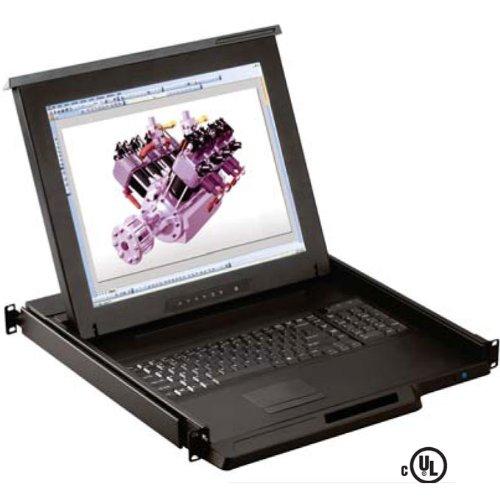 オースチンヒューズエレクトロニクス 1U 19インチ TFT LCD モニター キーボード ドロアー RKP119e