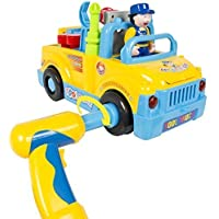 BumpnGo Toy Truck With Electric Drill and Various Tools, Lights and Music Gift Fun [並行輸入品]
