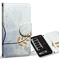スマコレ ploom TECH プルームテック 専用 レザーケース 手帳型 タバコ ケース カバー 合皮 ケース カバー 収納 プルームケース デザイン 革 フラワー 花 植物 001321