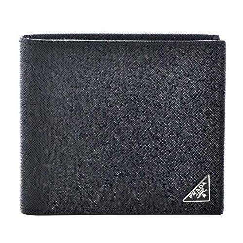 PRADA(プラダ) 型押しカーフスキン メンズ 二つ折り財布 2MO738 QHH 002 [並行輸入品]