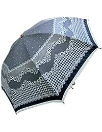 KitagawaSyouten[キタガワショウテン] 晴雨兼用傘 レディース 日傘 雨傘 折畳傘婦人 ブラック
