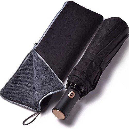 GranPara おりたたみ傘 ワンタッチ自動開閉 耐風構造 大判118cm テフロン撥水加工 超吸水傘カバー付属