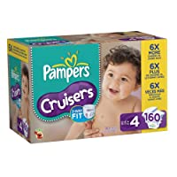 Pampers Cruisers Diapers Size 4 Economy Pack Plus,160 Count by Pampers