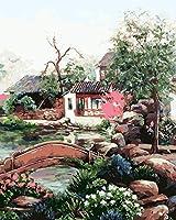 Diyの油絵子供のためのデジタル油絵大人初心者16x20インチ、エコライフ--クリスマスの装飾ホームインテリアギフト (フレームなし)