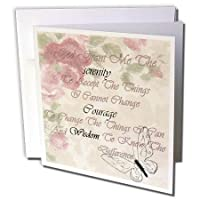 フローレンSobrietyメッセージ – イメージのSerenity Prayer on aged Floral Butterfly Paper – グリーティングカード Set of 6 Greeting Cards