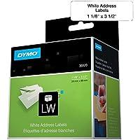 dymo 2 up labelwriter address labels 1 1 8 x 3 1 2 white 700