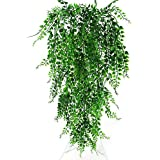 82Cm Green Artificial Plant Vines Wall Hanging Fake Leaves Plant Simulation Orchid Fake Flower Rattan for Home Garden Decorat