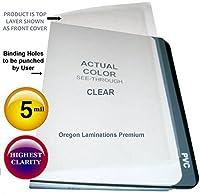 法的クリアプラスチックレポートカバー5Mil 8–1/ 2x 14Qty 100Bindingシート