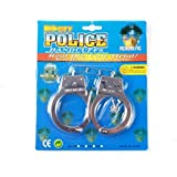 Halloween Tricky toys Creative Prank Novelty Metal Handcuffs with Keys for Kids Party Supplies Costume Accessory [並行輸入品]